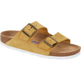 Birkenstock Arizona Soft Footbed Sandals Suede Leather Narrow Women, żółty/brązowy